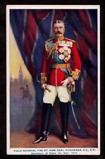 1914 tuck war notabilities field marshal Earl Kitchener military UK postcard