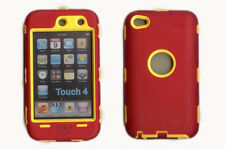Best Protection Case / Cover for iPOD TOUCH 4 RED / YELLOW Free Stylus!!