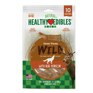 Nylabone Healthy Edibles Edible Antler Real Venison   Free Shipping