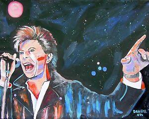 David Bowie Original Art PAINTING Artist DAN BYL Music Celebrity Huge 4x5ft