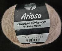 (15,90 €/100g): 50 g LG ARIOSO, m. Alpaka, Kettstruktur, Fb. 019 Rosenholz #3404
