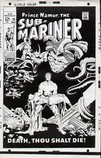 1969 SUB-MARINER #13 ORIGINAL MARVEL COMIC COVER PROOF PRODUCTION ART SEVERIN