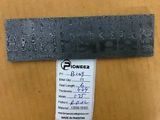"Pioneer Custom Made Damascus Steel Billet,New 6"" Rain Drop+Ladder ,Pt-B 109"