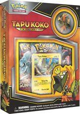 Pokemon Tapu Koko SM 31 Pin Collection Box incl 3 Booster Packs Guardians Rising