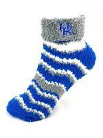 For Bare Feet Kentucky Wildcats Chevron Stripe Cuffed Fuzzy Socks