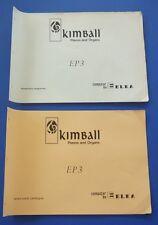 ELKA Kimball Pianos & Organs Schematic Diagrams and Spare Parts Catalogue EP 3
