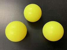 *** 3 X  balle de baby foot dures Fluo jaunes  ***