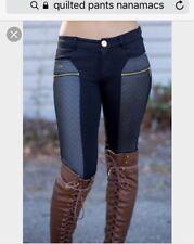 Nanamacs Sexy Black Quilted Pants Size L Rare!