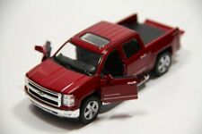 "5"" Kinsmart 2014 Chevrolet Silverado Truck Diecast Model Toy 1:46 Chevy - RED"