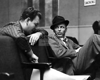 FRANK SINATRA w/ NELSON RIDDLE @ CAPITOL RECORDS - 8X10 PUBLICITY PHOTO (RT280)
