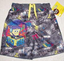 Swim Trunks 5/6 SPONGEBOB SQUAREPANTS Swimsuit BOYS Sz 5/6 UPF 50+ UV NWT