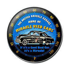 Busted Knuckle Garage Miracle Used Cars USA Uhr Wanduhr Werkstatt Blechuhr Clock