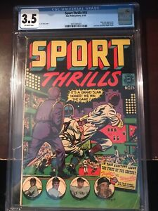 November, 1951 - Sport Thrills #15 - CGC Grade 3.5 (Golden Age)