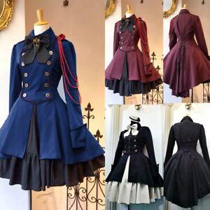 5XL Cosplay Costume Lolita Dress 18th Chain Bow Ruffle Steampunk Skirt ZYJ00