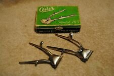 2 Vintage Oster Manual Hair Trimmers Clippers with 1 Box Model 105 & 000
