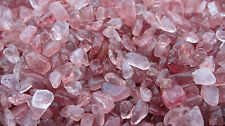 *1oz* Strawberry Quartz Chips 5-10mm Healing Crystals Tumbled Stones Shamans