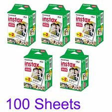 Fujifilm Instax Mini Instant Film 100 Sheets White Film blanc Mini 8 9 25 70 SP2