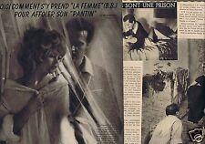 Coupure de presse Clipping 1958 Brigitte Bardot  (3 pages)