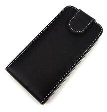Für Apple iPhone 4 Tasche Cover Hülle Flipcase Flipstyle schwarz Neu+Gratis Vers