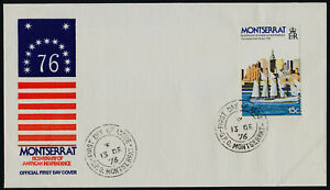 Montserrat 359 on FDC - Ships, American Bicentennial