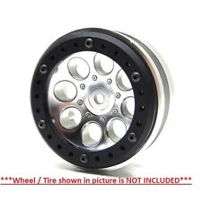 Gear Head RC Axial 1.9 Wheel Beadlock Ring Simple Black Delrin (4) GEA1238