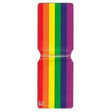 NUOVO BANDIERA ARCOBALENO OSTRICA viaggio titolare della carta Wallet Gay TRENO BUS PASS REGALO GLBT