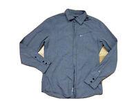 G - Star 33/01Mens Size L Zip Up Spartan Chambray Grey Shirt Long Sleeves