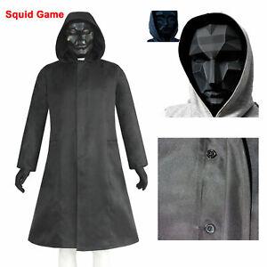 Squid Game The Front Man Cosplay Coat Windbreaker Mask Sets Halloween Cosplay