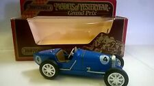MATCHBOX GRAND PRIX AUTO DIE CAST BUGATTI TYPE 51 1932 BLU ART Y-11 Y11