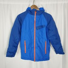 Columbia Midweight Blue Ski Jacket Hooded Zip Up