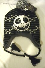 Disney black Jack Skellington Skeleton Laplander Peruvian Beanie-Brand New!