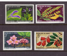 Congo (Brazzaville) MNH 1970 Flowers set imperf. mint stamps