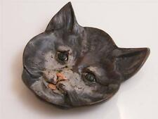 COLD PAINTED SOLID BRONZE CAT PIN TRAY