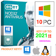 ESET NOD32 Antivirus - 10 PC / 1 ANNO Years 🔥Product Key 🔥Licenza Originale