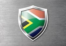 South Africa flag shield sticker 3d effect quality 7 year water & fade proof