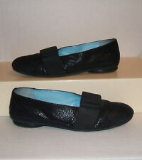 THIERRY RABOTIN Womens Italian Black Snake-Print Leather Dress Loafers 39 / 9 US