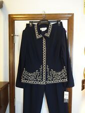 New! Vintage Maggie London Navy Blue Pant Suit      Size 16       $180.00