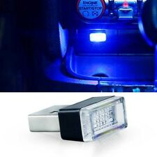 Blue USB Plug-In Small LED Lights Car Extra Dash Floor Atmosphere Lighting Kit