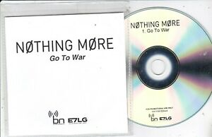 NOTHING MORE GO TO WAR RARE PROMO CD