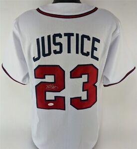 Dave Justice Signed Atlanta Braves Jersey (JSA COA) 2xWorld Series Champion O,F.
