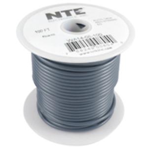 NTE Electronics  WA16-08-100 HOOK UP WIRE AUTO 16 GAUGE GRAY STRANDED 100'