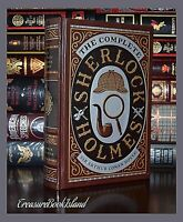 New Complete Sherlock Holmes A.C. Doyle Sealed Leather Collectible Hardcover