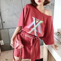 Kpop Monsta X Dress Summer Dress Wanna One Tshirt Dress GOT7 TWCIE EXO Plus Size