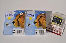 Epson cartuchos originales Cian T0712 Magenta T0713 Amarillo T0714