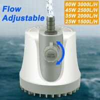 Adjustable Submersible Water Pump Fish Tank Aquarium Pond Fountain Hydroponics