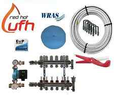 water underfloor heating 6 port 600m kit up to 120m2 with Digital A rated pump