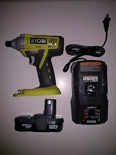 RYOBI P1870 ONE+ 18V Cordless Impact Drill Driver Kit w/ Battery and Charger