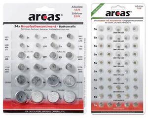 Knopfzellen Sortiment Uhrenbatterien Set Auswahl Paket Verschiedene Batterien
