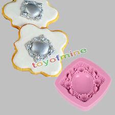 Square broche moule silicone pour fimo cupcake gâteau topper
