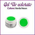 GEL UV NAIL ART COLORATI RICOSTRUZIONE UNGHIE NAILS TIPS TIP 5ML VERDE NEON